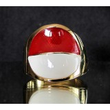 flag of indonesia one finger brass ring