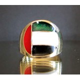 flag of united arab emirates one finger brass ring