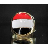 flag of yemen one finger brass ring