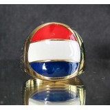 flag of netherlands holland one finger brass ring