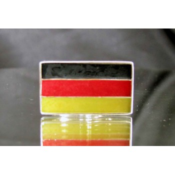 flag of germany one finger sterling silver ring