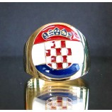 flag of croatia one finger brass ring