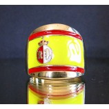flag of spain one finger brass ring
