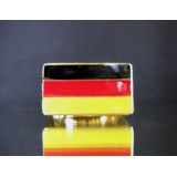 flag of germany one finger brass ring