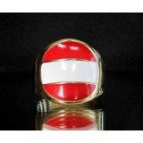 flag of austria one finger brass ring