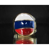 flag of russia one finger brass ring