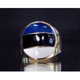 flag of estonia one finger brass ring