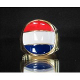 flag of holland netherlands one finger brass ring