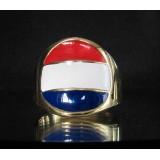 flag of luxemburg one finger brass ring
