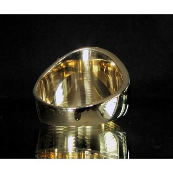 flag of belgium one finger brass ring