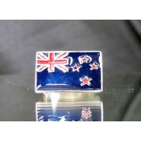 flag of new zealand one finger sterling silver ring