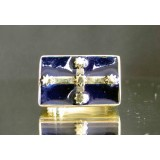 eureka flag of australia one finger brass ring