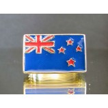 flag of new zealand one finger brass ring