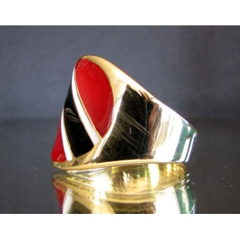 flag of trinidad and tobago one finger brass ring